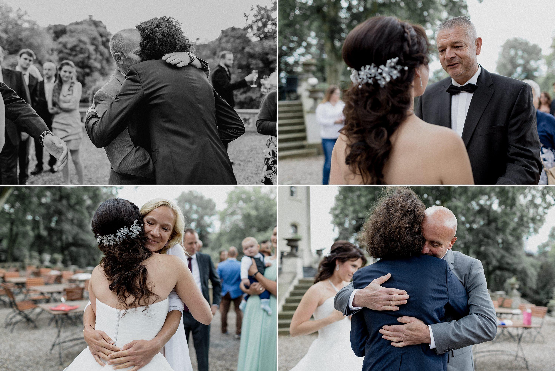 Hochzeitsfoto einer deutsch-russischen Hochzeit auf Schloss Kittendorf. Aufgenommen von den Hochzeitsfotografen Tom und Lia. Fotografen aus Rostock.