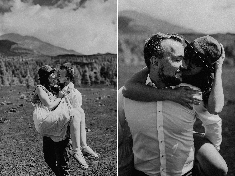 Dies ist ein Foto aus einer Fotoserie, die in einem Couple Shoot auf dem Teide in Teneriffa im Jahr 2017 entstanden ist.